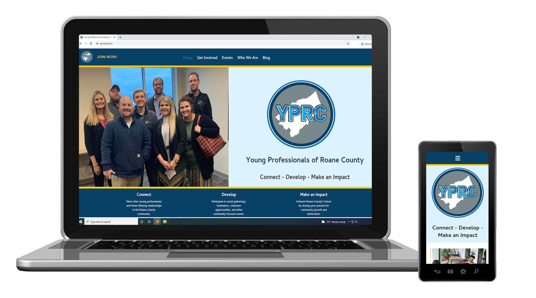 Website Design for Young Professionals of Roane County